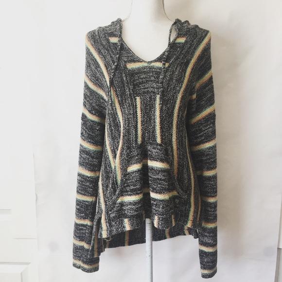 ce863f6aea Billabong Sweaters | Bonfire Beach Baja Sweater Hoodie Boho | Poshmark
